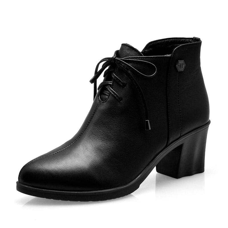 10207-1黑-女单靴-百牛圆鞋业