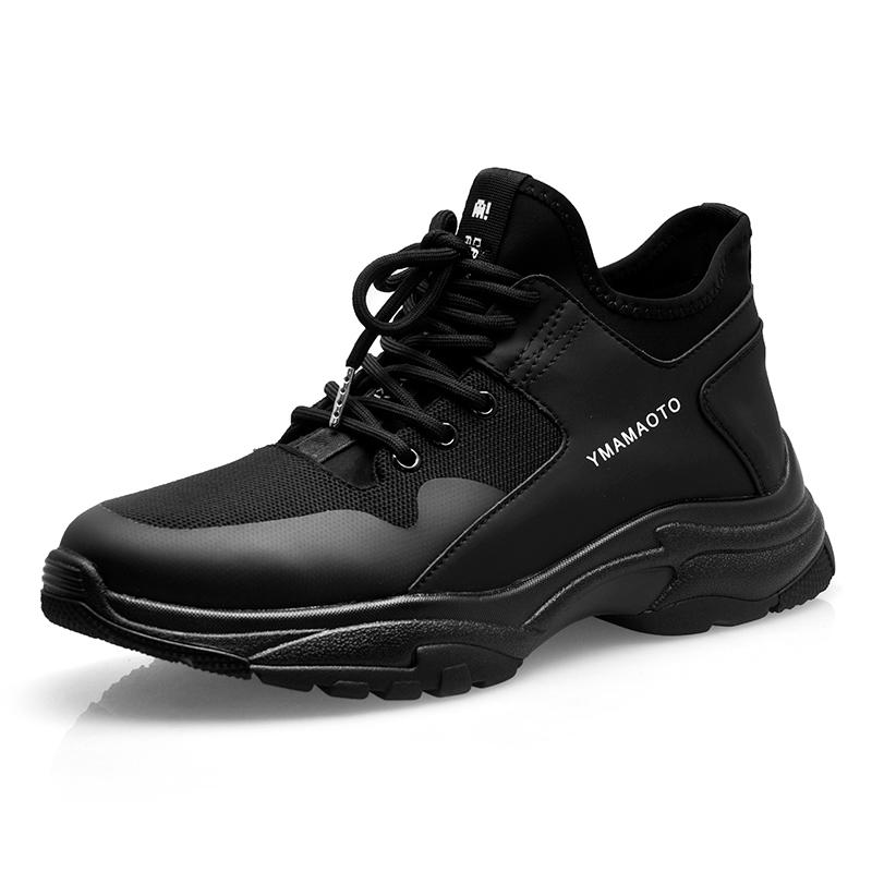 C206-1黑-运动休闲系列男鞋-百牛圆