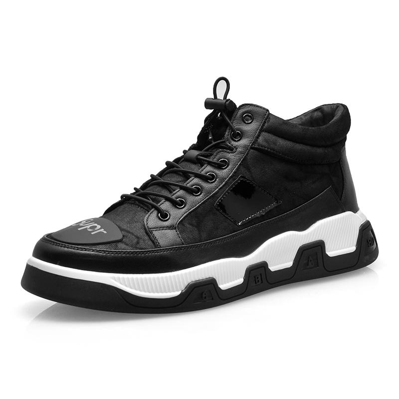 F031-1黑 -时尚休闲运动风尚-百牛圆鞋业