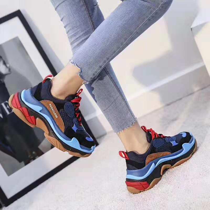 B892-8蓝 加绒运动休闲女鞋